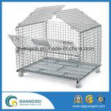 Oxidação-Impedindo a gaiola Foldable galvanizada do transporte do armazenamento