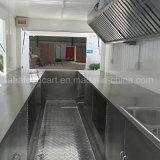 移動式台所記憶のBroastedの鶏機械が付いている電気移動式食糧カート