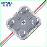 Un modulo delle 2835 iniezioni LED con l'obiettivo ottico per le lettere a doppia faccia della casella chiara e della Manica del LED