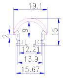 Profilo di alluminio per la barra chiara del LED con l'espulsione dell'alluminio dell'OEM del LED