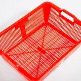 Panier en plastique de HDPE rouge du numéro 14 de marque de porte-mire de mémoire pour le fruit