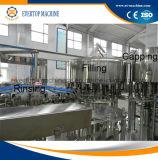 Máquina tampando de enchimento bebendo da água mineral