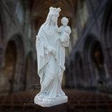 St. Mary met het Standbeeld van Jesus Stone Carving Reigious Marble van de Baby