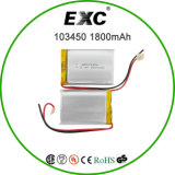Customized all'ingrosso Li-Polymer Battery 3.7V 1800mAh Li Ion Battery 103450