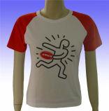 2015人の最新の新式の女性の綿のTシャツ