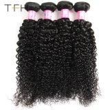 9Aインドのカーリーヘアーの織り方自然なカラー100%インド人のバージンの人間の毛髪