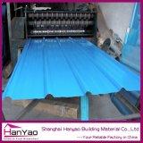 Gewölbtes Dach-Stahlblech deckt Baumaterialien mit Ziegeln