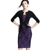 Frauen-elegantes dünnes Büro-Kleid-beiläufiges Partei-Abend-Kleid