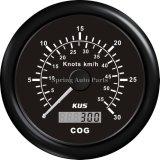 Indicateur de vitesse GPS de 85 mm 0-60knots avec antenne d'accouplement et rétro-éclairage pour yacht à bateaux