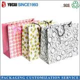 Bolso de compras de papel de encargo para el empaquetado de la ropa