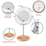 Specchio di vanità moderno caldo 5X che ingrandice lo specchio illuminato dell'estetica del LED