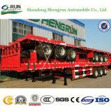 Aanhangwagen van de Vrachtwagen van de Container van het Bed van de Aanhangwagen van de Fabrikant van Shengrun Flatbed Vlakke Semi