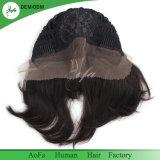 똑바른 바브 가발 자연적인 색깔 9A 실제적인 Remy 머리에 의하여 전 뽑아지는 정면 레이스 가발