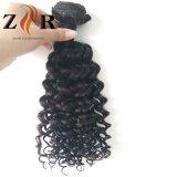 Оптовый индийский естественный черный Weave курчавых волос шьет в выдвижении