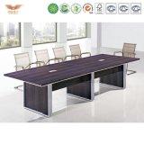 고품질 단단한 나무 사무용 가구 모양 긴 회의 테이블