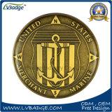 私達に旧式な青銅色の挑戦硬貨の硬貨金属をかぶせなさい