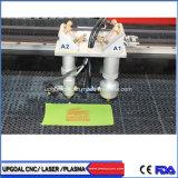 Ökonomische Metallnicht Metall-CO2 Laser-Stich-Ausschnitt-Maschine mit doppelten Köpfen