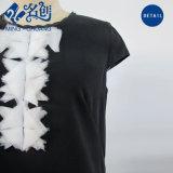 짧은 소매 검정 둥근 고리 느슨한 형식 숙녀 복장