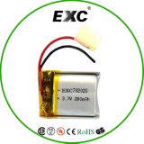 Lipo Battery 3.7V 280mAh 702025 Rechargeable Li Polymer Battery