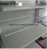 Mensola del supermercato della scaffalatura dell'unità del lato del doppio del metallo di Tego