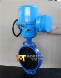Válvula de borboleta revestida de borracha do atuador do motor com engrenagem do sem-fim (CBF02-TA01)