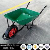 Carrello di giardino di gomma solido della carriola della riga della barra di rotella Wb3800
