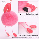 De leuke Zeer belangrijke Ketting van de Flamingo van Pompom Keychain