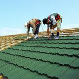 Tôle de toit de tuiles à dessus plat en métal tuile de toit en acier galvanisé