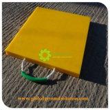 En PEHD jaune pied de grue patins du support de roulement/ chariot en polyéthylène Outrigger Pad Cheap