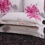 ロマンチックな様式の100%年の綿の印刷のホテルの寝具セット