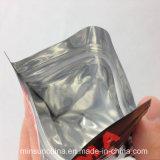 Flache Unterseiten-Aluminiumfolie-Reißverschluss-Verschluss-Verpackungs-Beutel