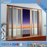 protección del medio ambiente de la puerta corrediza de aluminio