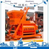 Alta Automática Efficieny Js1000 Misturador de máquinas de construção de eixo duplo