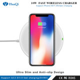熱販売のチーのiPhoneまたはSamsung/LG/Huawei/Xiaomi/Nokia/Sonnyのための速い無線電話充電器か充満パッドまたは立場または端末