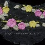 Applique del Crochet del cotone della tessile del merletto del tessuto ricamato del fiore di modo
