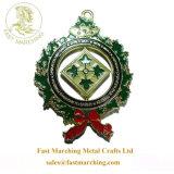カスタム3Dトロフィのコップのクリスマスのリボンの巻き枠の金属の雪片メダル