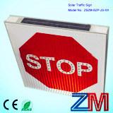 Señal de tráfico solar de la parada que contellea/muestra de camino solar/señal de peligro