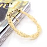 De hete Ontwerpen van de Nauwsluitende halsketting van de Juwelen van de Armband van de Halsband van de Nauwsluitende halsketting van het Kristal van het Netwerk van de Manier Gouden
