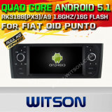 Carro DVD GPS do Android 5.1 de Witson para a AUTORIZAÇÃO Oid Punto com sustentação do Internet DVR da ROM WiFi 3G do chipset 1080P 16g (A5535)