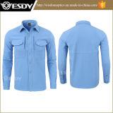 Camisa larga de los hombres suaves del shell de la piel de tiburón del azul de marina