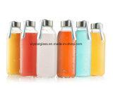 Wasser-Flaschenglas mit Edelstahl-Schutzkappen mit tragender Schleife 14oz