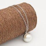 Halsband van de Parel van de Parel van de Keten van de Kleur van de Juwelen van de manier de Zilveren Fijne Dwars Imitatie voor de Juwelen van Vrouwen