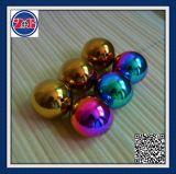 Solid 2mm 3mm 4mm 5mm 6mm 7mm 8mm 10mm Plata oro rosa de bolas de acero perforado con agujero para la fabricación de joyas
