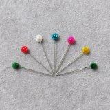 Schwarze u. weiße Farben-Damenschneiderin, die Pin-Hauptperlen-gerade Stifte näht