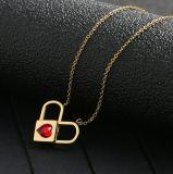 Joyas de acero inoxidable cambiante de la Moda Mujer Collar de diamantes