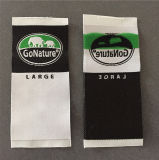 Custom 75D de alta densidad suave 3.5*8.4cm etiquetas tejidas etiquetas tejidas