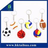 PVC Keychain, gioco del calcio Keychain, Baskteball Keychain di abitudine