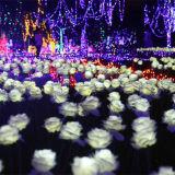 12V 24V Hochzeits-Dekoration-künstliche Rosen Wholesale Silk LED Blumen-Lichter der Qualitäts