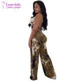 L'été Mesdames sexy Leopard Imprimer Fashion Jumpsuit