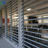 Control de luz ajustable de aluminio persianas persiana corrediza de cristal de ventana con Flyscreen/Mosquitera